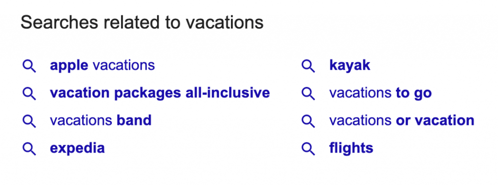 Searches related to Vacations